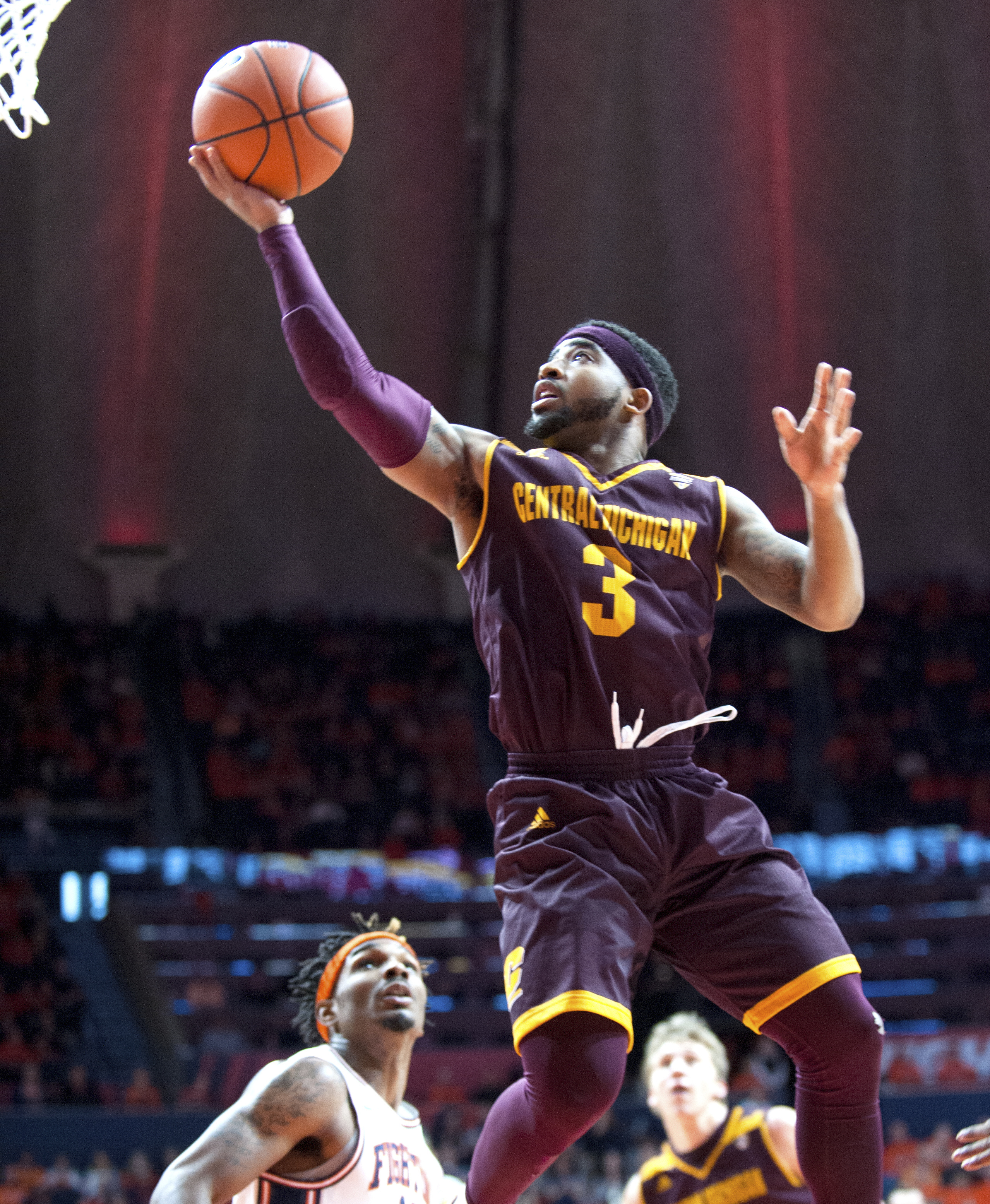 Central Michigan's guard Marcus Keene (3) during the second half of their NCAA college basketball game in Champaign, Ill., on Saturday, Dec.10, 2016.