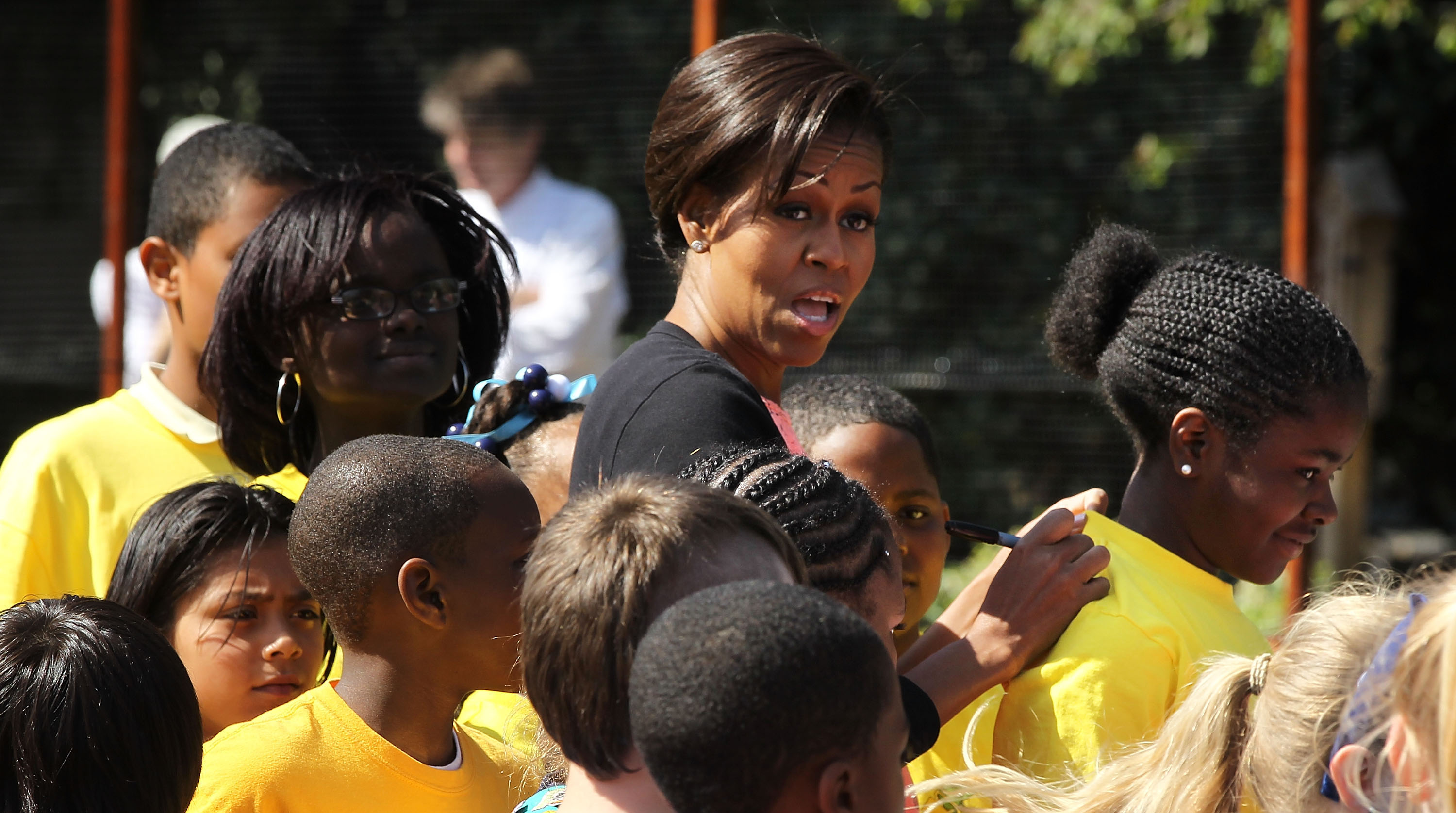 First Lady Michelle Obama Hosts White House Kitchen Garden Spring Planting