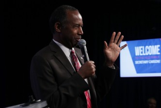 Ben Carson Addresses Housing And Urban Development Department Employees