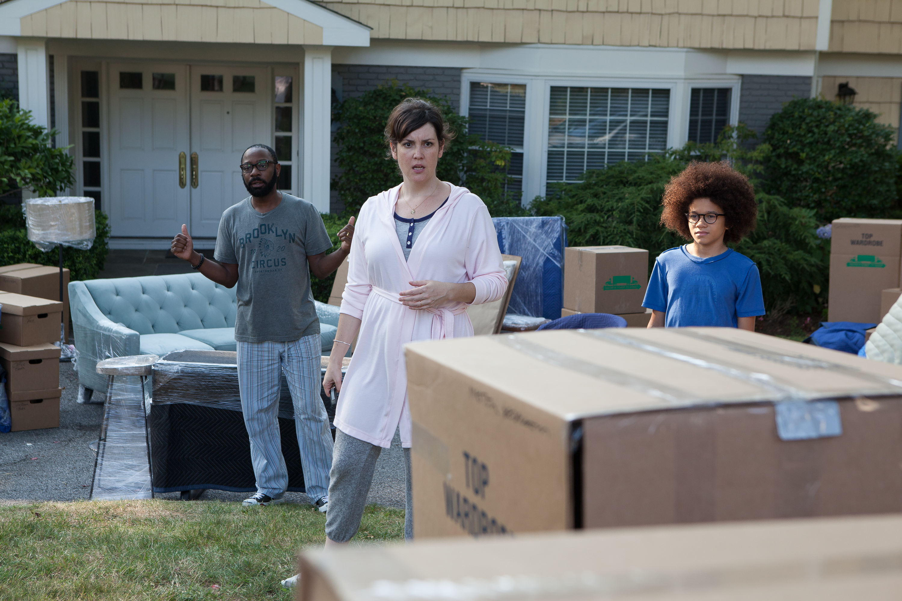 Nelsan Ellis, Melanie Lynskey And Armani Jackson In A Scene From U201cLittle  Boxes.u201d