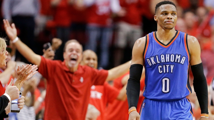 0d7c083c719 Russell Westbrook s record performance means little to him after losing