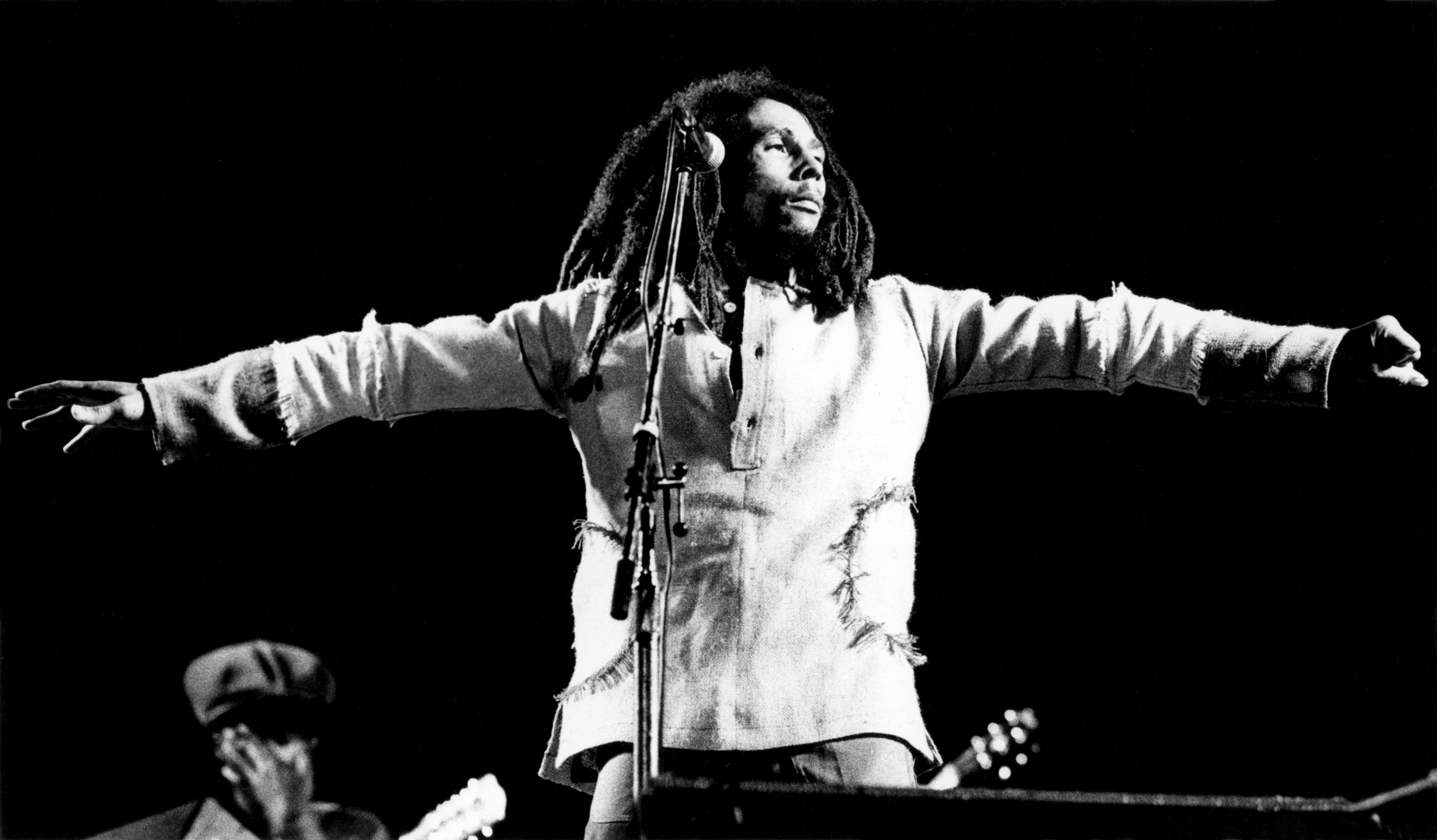Bob marleys call for peace for jamaica at the third world woodstock bob marley performs during the one love peace concert in kingston jamaica malvernweather Image collections