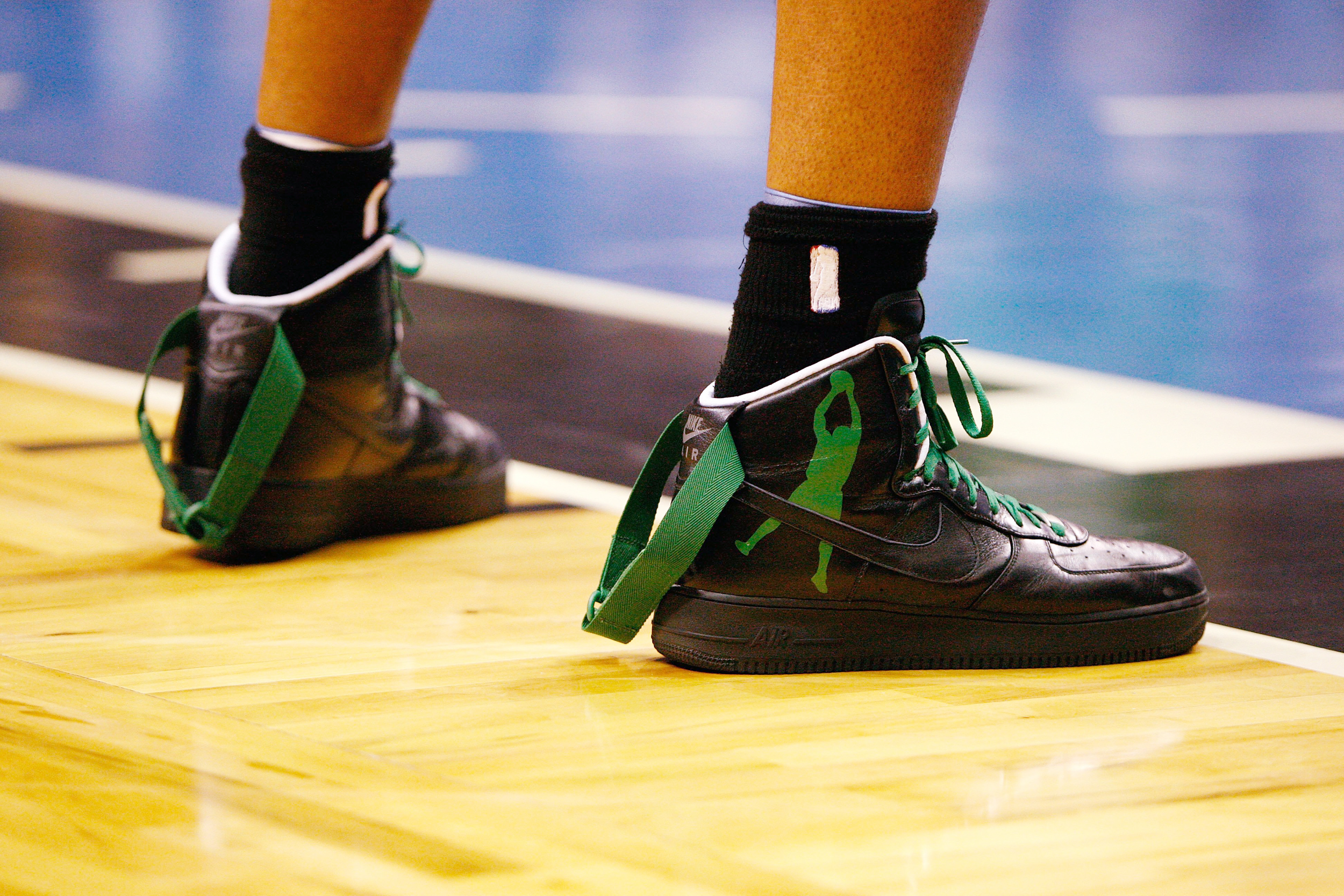 6317db27c10d A detail of sneakers worn by Rasheed Wallace of the Boston Celtics against  the Orlando Magic in Game 5 of the Eastern Conference Finals during the  2010 NBA ...