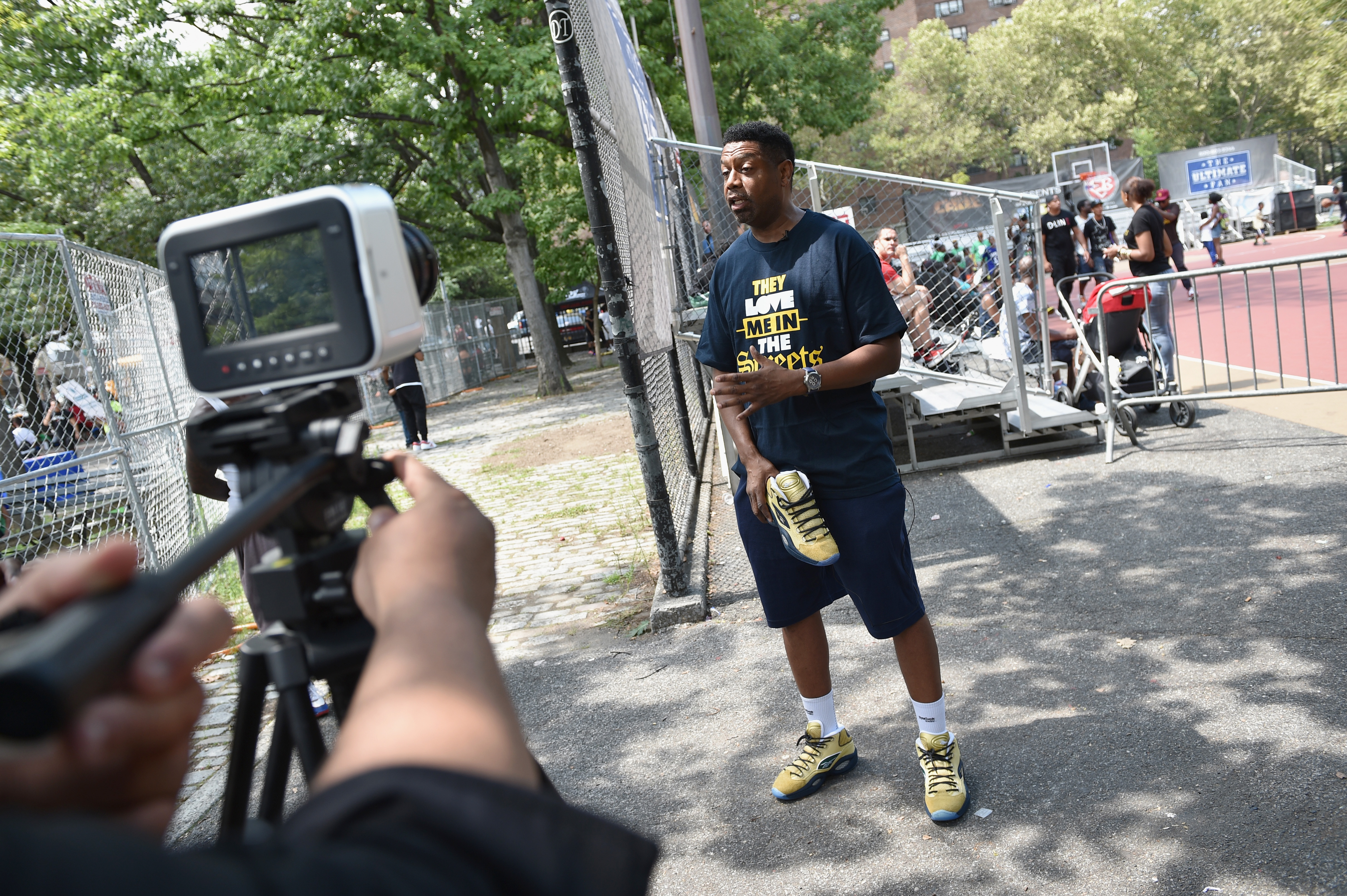 Entertainer s Basketball Classic CEO Greg Marius attends the Launch of the  new Reebok Question Mid EBC   A5 with Cam ron and Jadakiss at Rucker Park  on ... d61e0742c