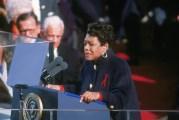 Angelou At Inauguration