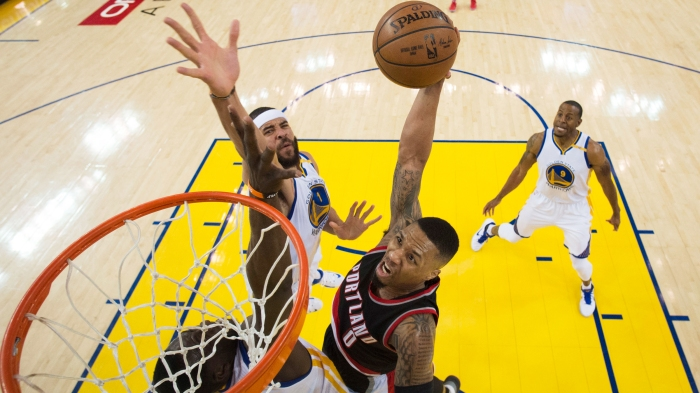best sneakers 1cda6 05477 Blazers  Damian Lillard, C.J. McCollum are hungry to even series with  Warriors