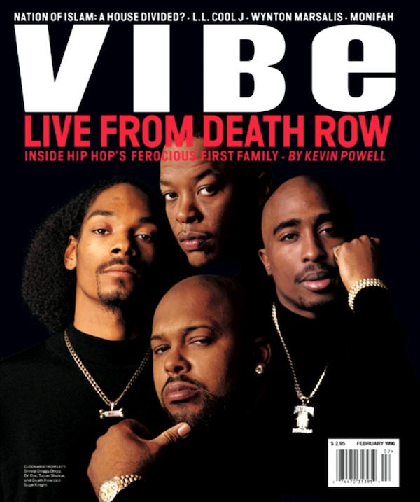All Eyez on VIBE magazine's 1996 Death Row cover