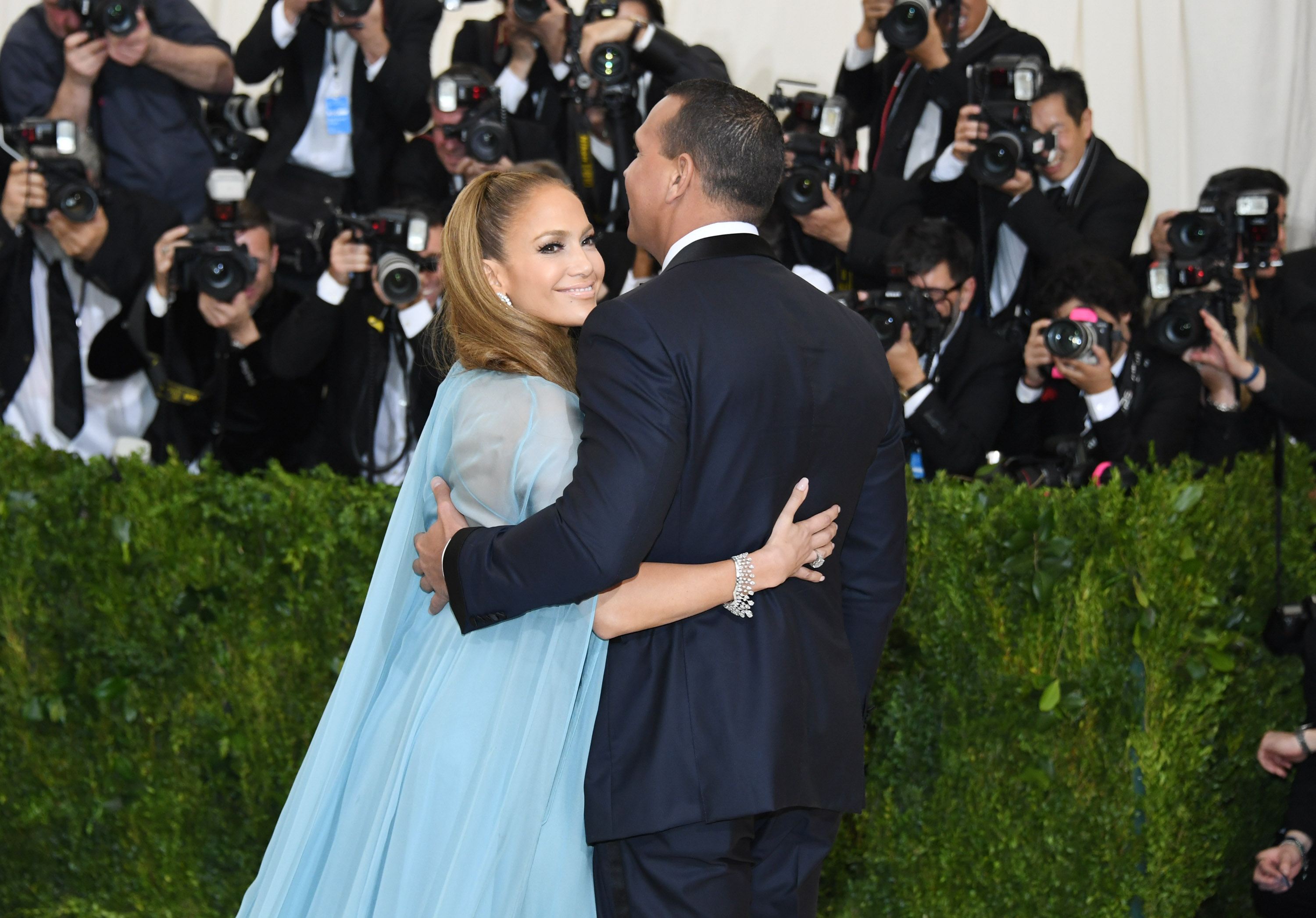 """5ab90f1e55b4 Jennifer Lopez and Alex Rodriguez attend the """"Rei Kawakubo/Comme des  Garcons: Art Of The In-Between"""" Costume Institute Gala at Metropolitan  Museum of Art on ..."""