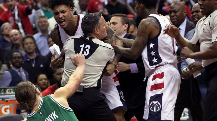 Washington Wizards forward Kelly Oubre was ejected for a vicious shove to  the chest of Boston Celtics center Kelly Olynyk in the second quarter of  Game 3 ... d7d91fe10