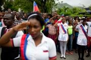 APTOPIX Haiti Flag Day