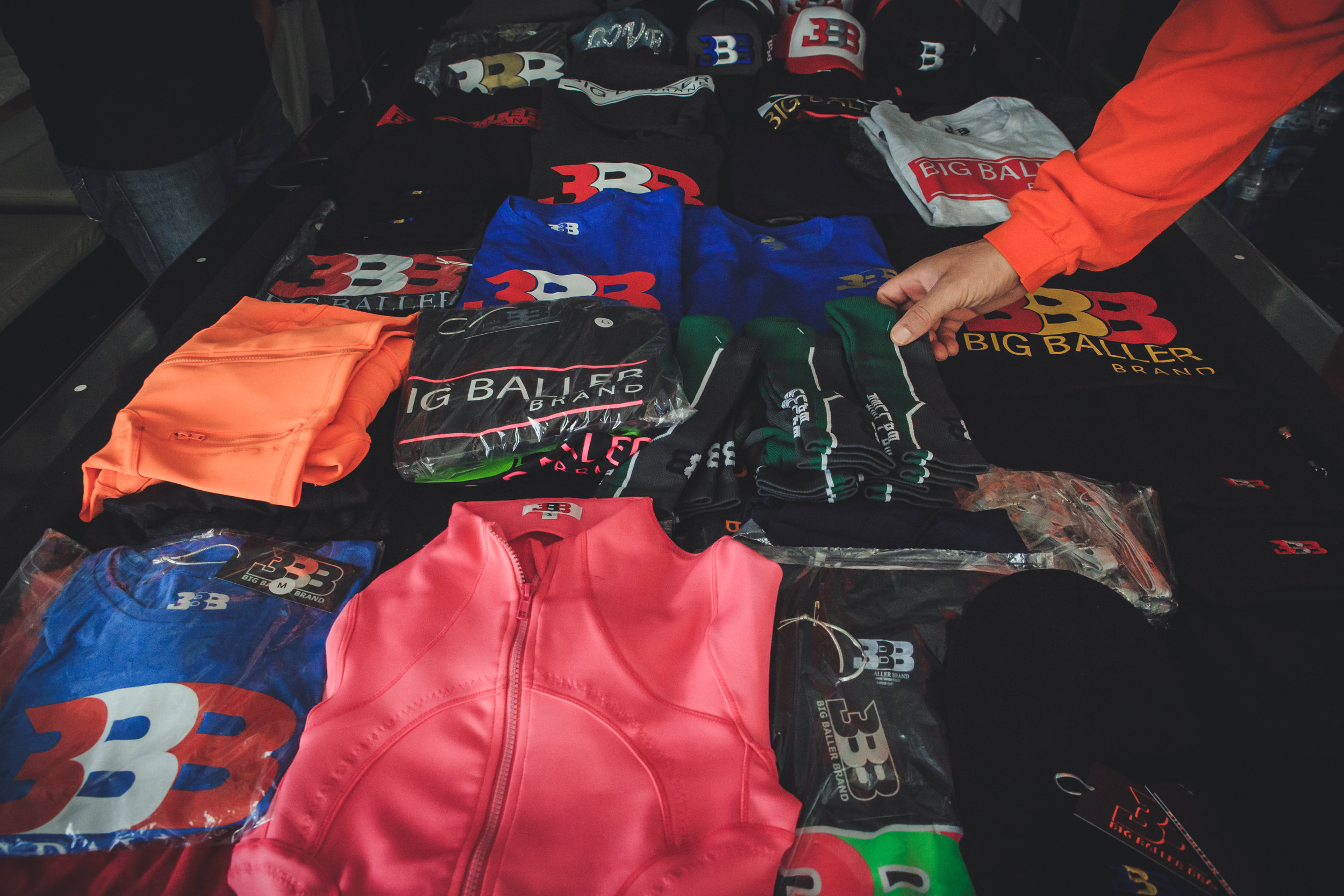 270e3cc7774 LaVar shows some of the Big Baller Brand gear sitting in his home. Some of  this merchandise is even created in-house where he stores various equipment  for ...