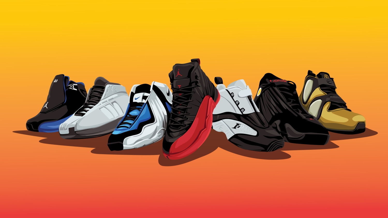 pretty nice 78c73 71f71 The most iconic sneakers from every NBA playoffs since 1997