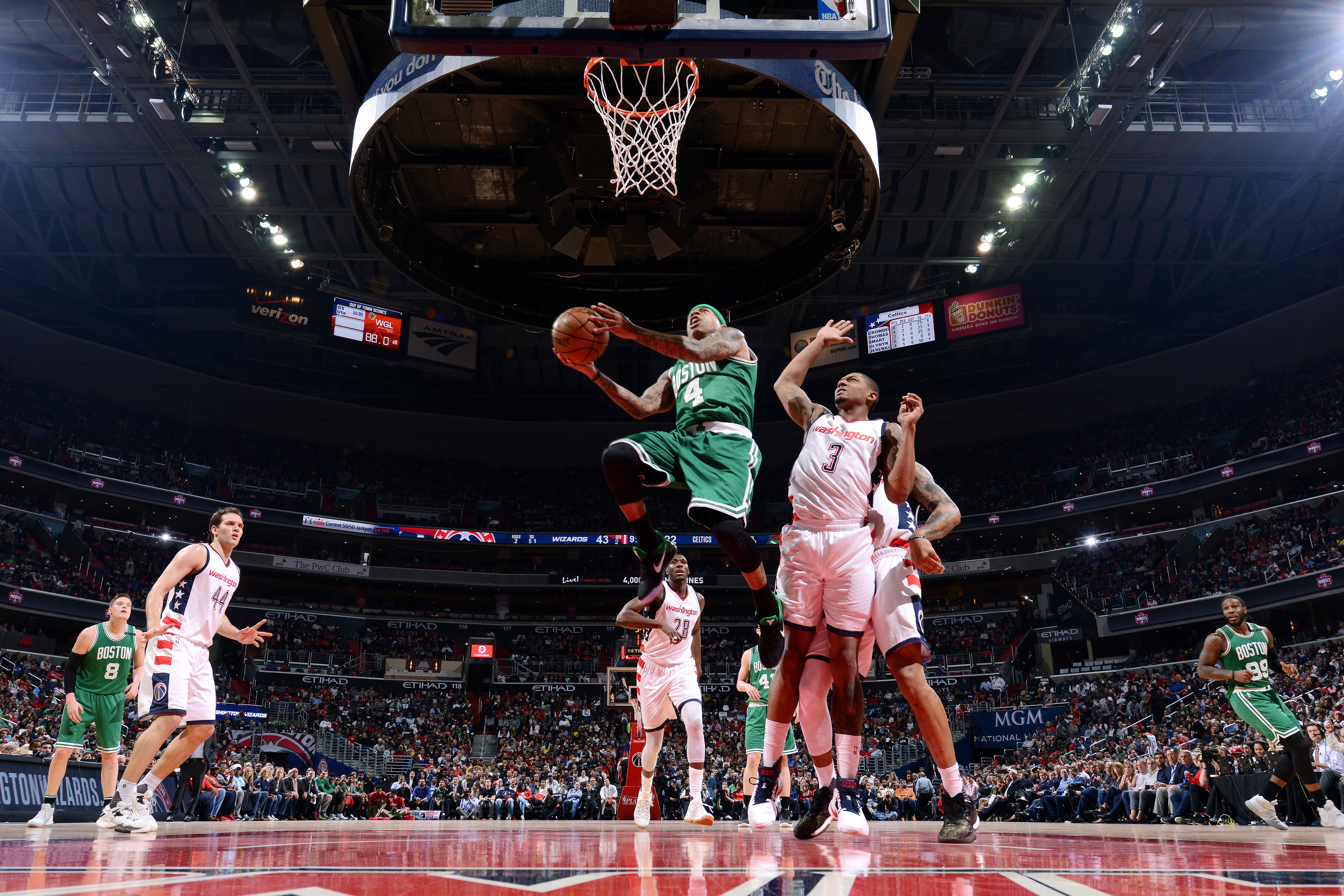 ... Celtics goes for a lay up during the game against the Washington  Wizards during Game Three of the Eastern Conference Semifinals of the 2017 NBA  Playoffs ... 154df07e8