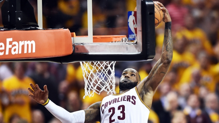 ade28834b2de Did LeBron James or Iman Shumpert have the better Game 1 dunk