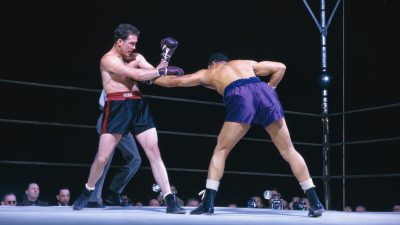 Louis and Conn in Boxing Action