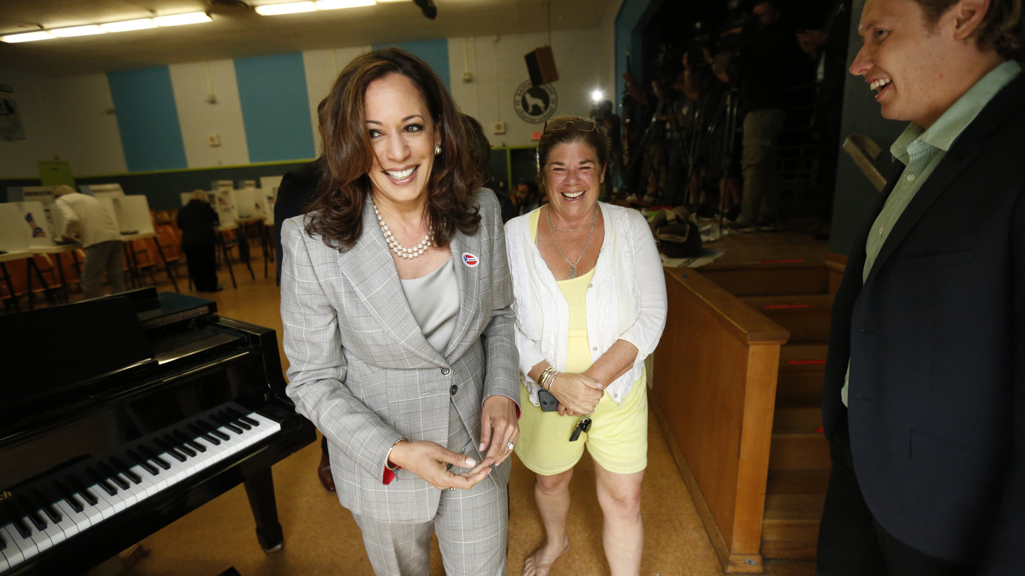 California AG Kamala Harris Campaigns For U.S. Senate Seat