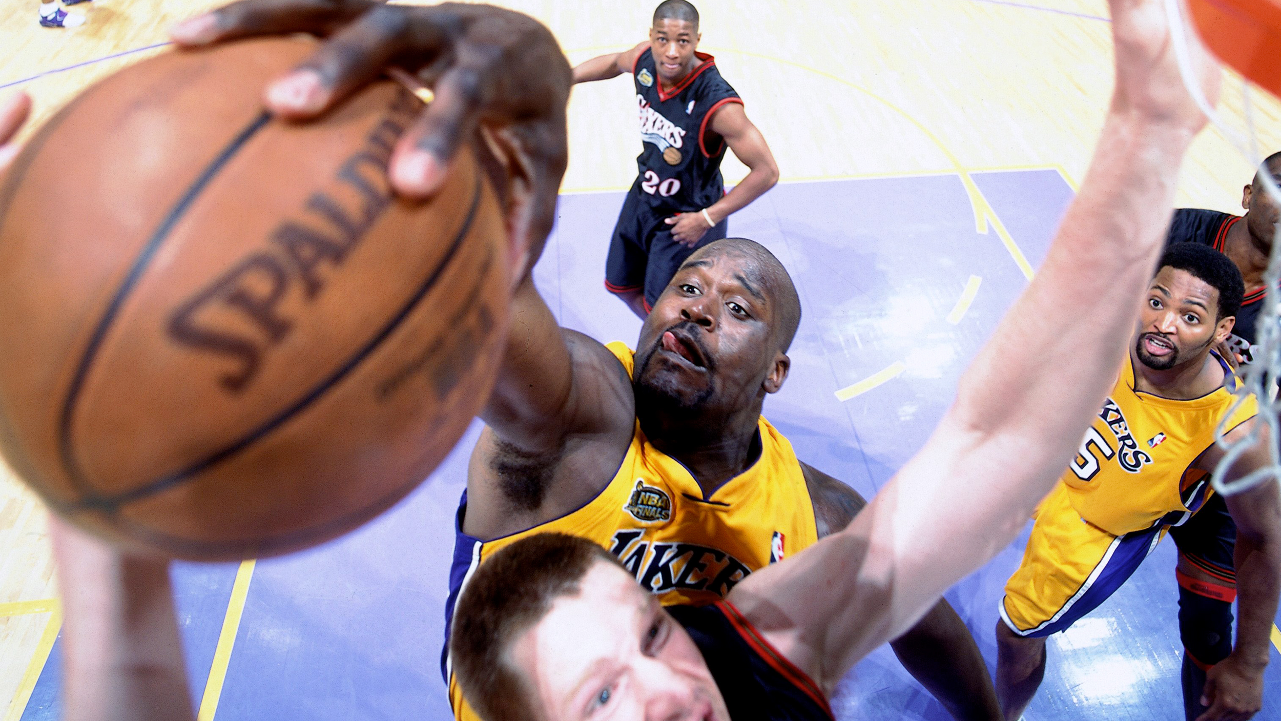 super popular 2ca1d b29d2 On this day in NBA Finals history  Shaquille O Neal drops a near quadruple- double