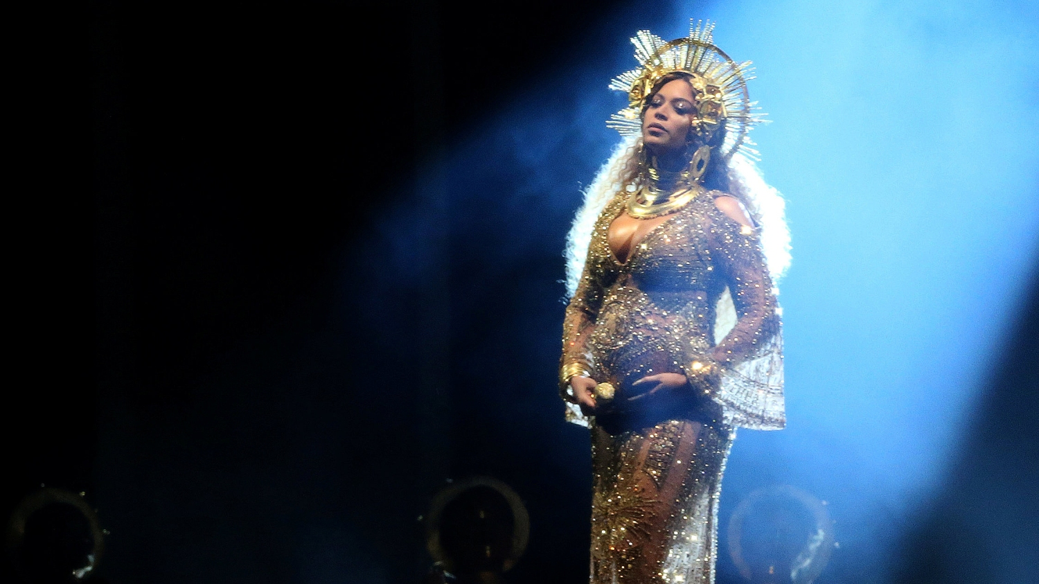 FILE PHOTO – Beyonce performs at the 59th Annual Grammy Awards in Los Angeles