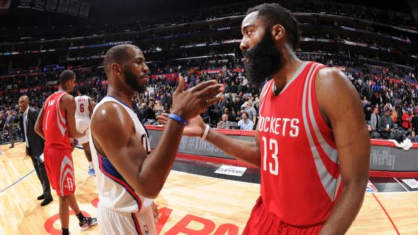 dbbf9d353 Harden helped sell Paul on Rockets