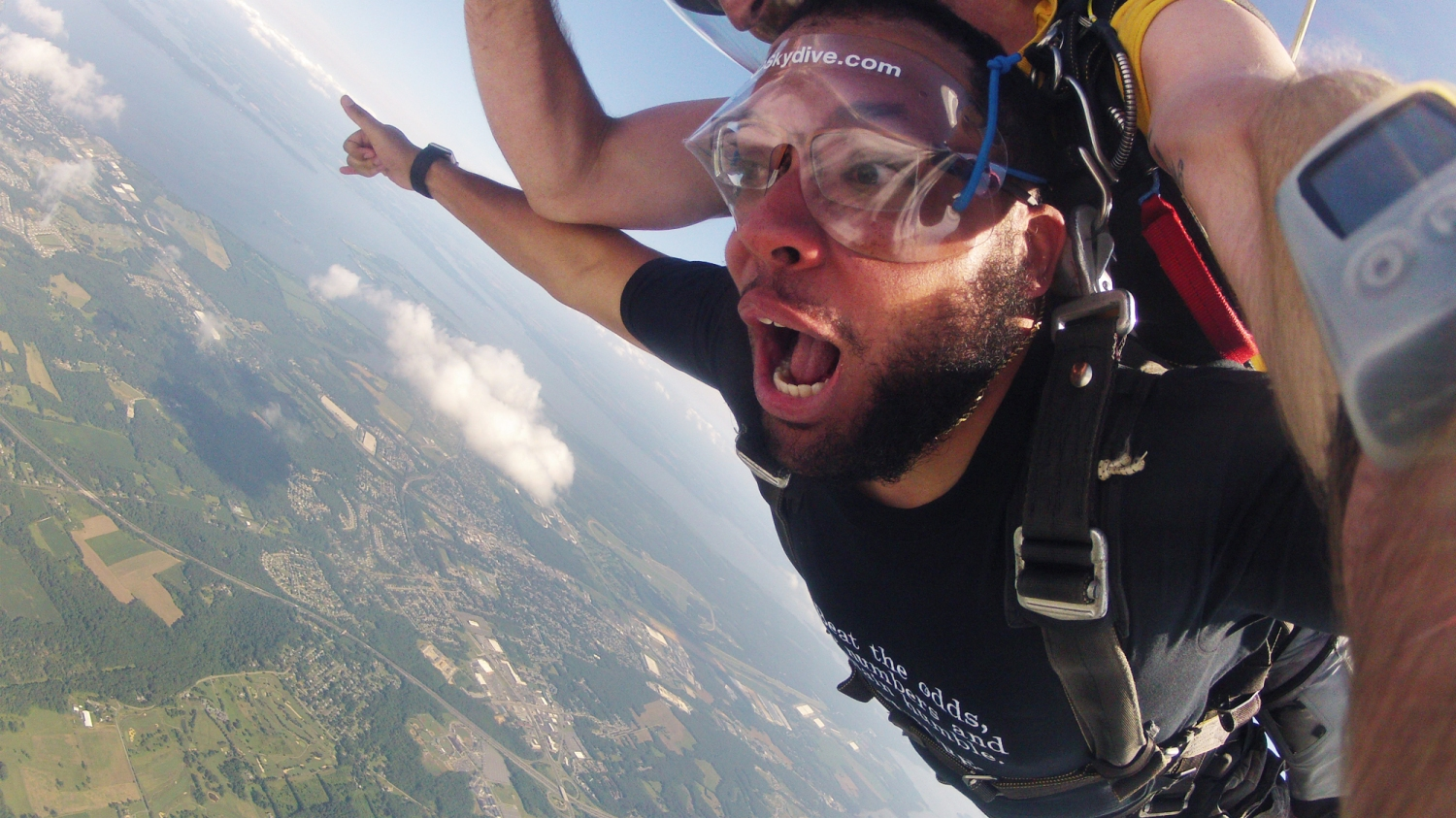 08727424 The air up there: Five black men jump out of a plane in Baltimore