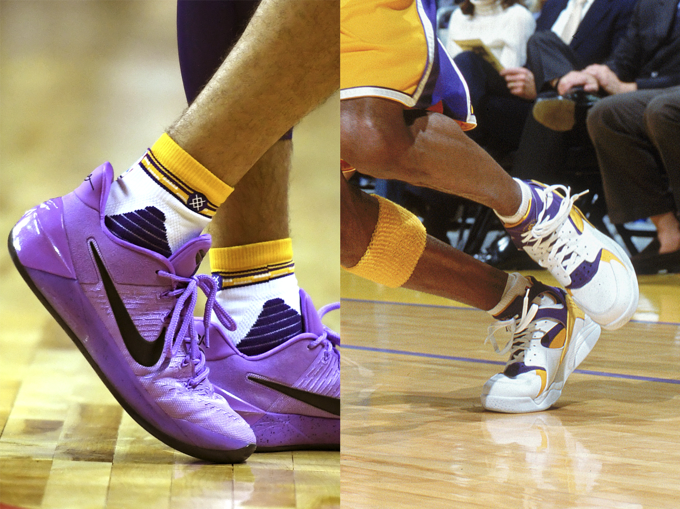 "finest selection 4dc7e 0a8ed What made Ball ditch the ZO2s after two games for a pair of Bryant s Nike  Kobe ADs  ""You know,"" Ball said after he willed the Lakers to a 103-102 win  over ..."