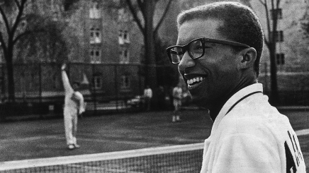 Arthur Ashe on the court