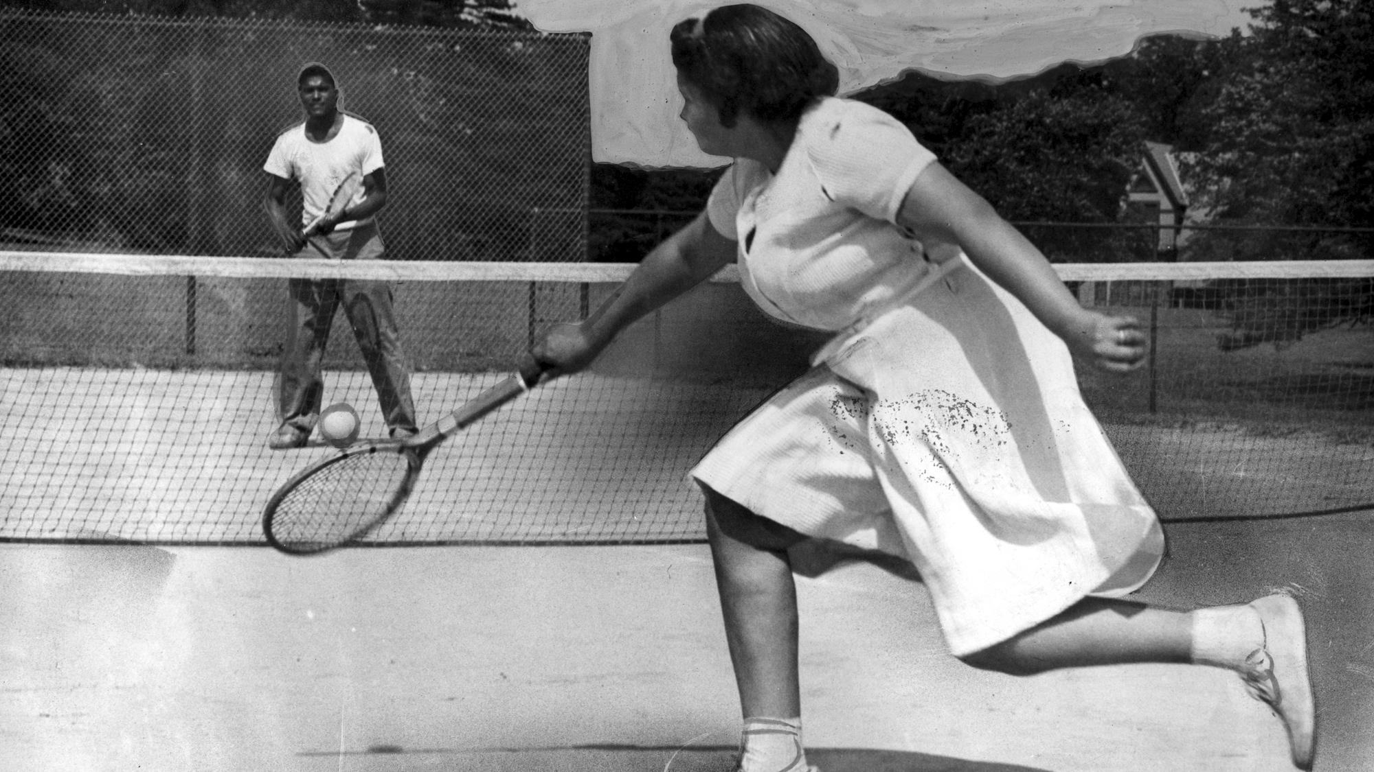 Louise Watson Playing Tennis