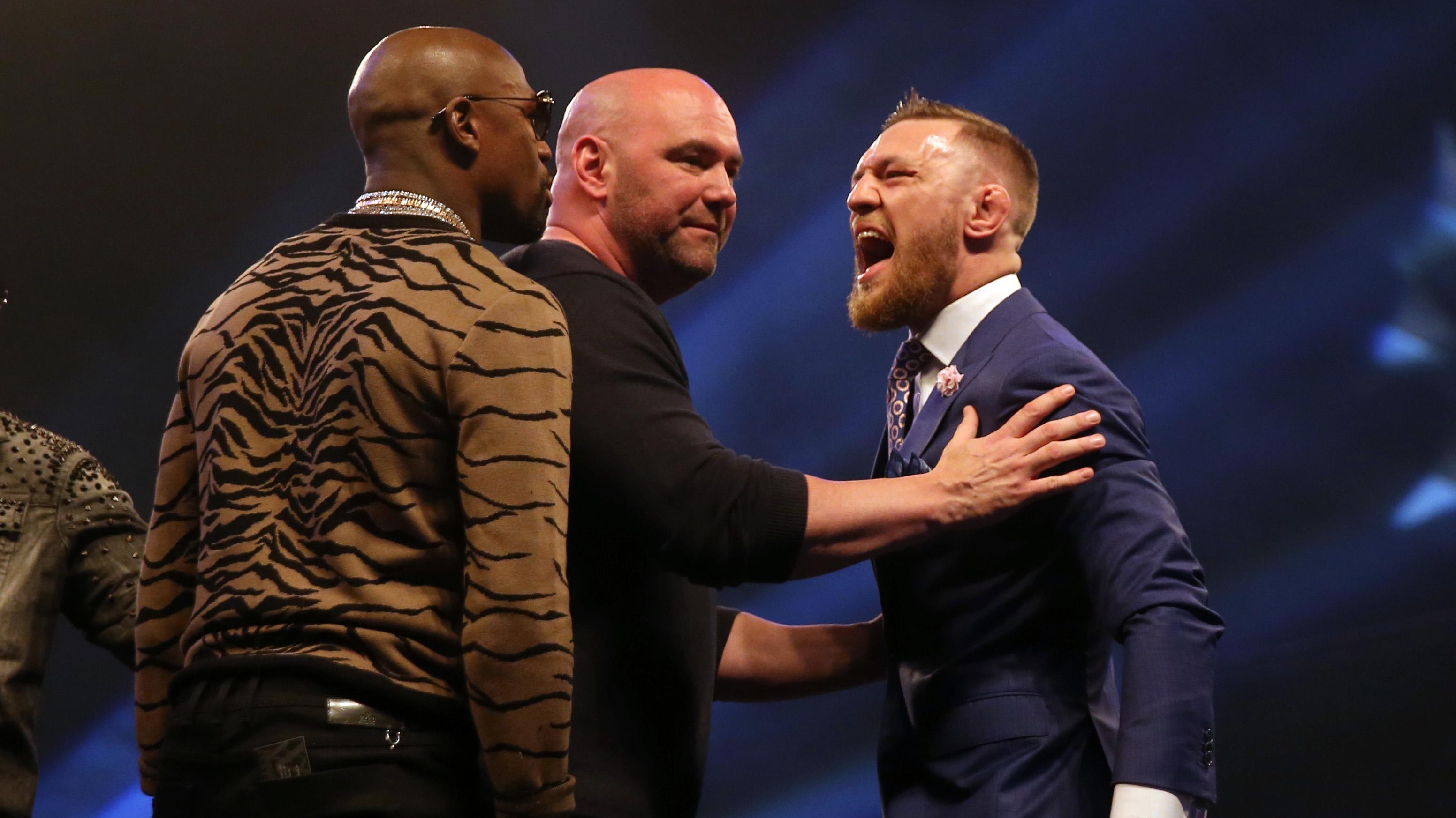 Floyd Mayweather v Conor McGregor Press Conference – SSE Arena