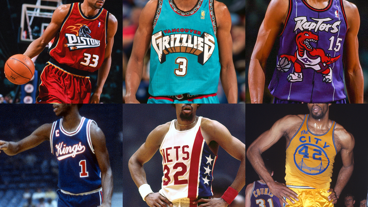 06e2cb3fa The 30 best NBA throwback jerseys ever