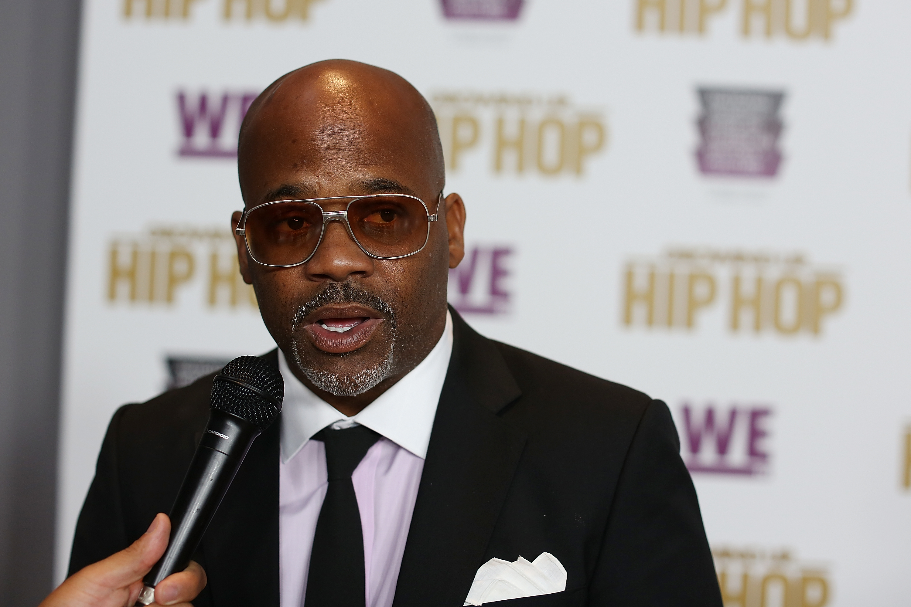 """Cast member Damon Dash attends WE tv's celebration of """"Growing Up Hip Hop"""" Season 3 at the Smithsonian Institute National Museum of African American History and Culture on July 20, 2017 in Washington, DC."""