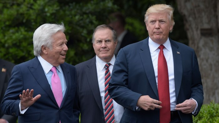 Donald Trump,Bill Belichick,Robert Kraft