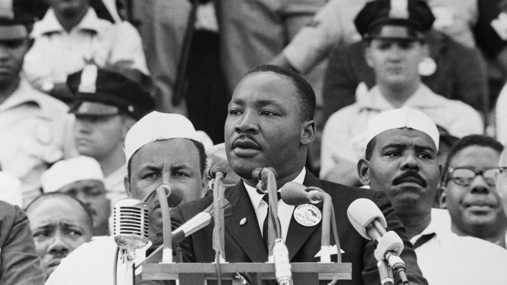 "Martin Luther King Giving ""Dream"" Speech"