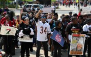 Protest in Support of Colin Kaepernick in Chicago