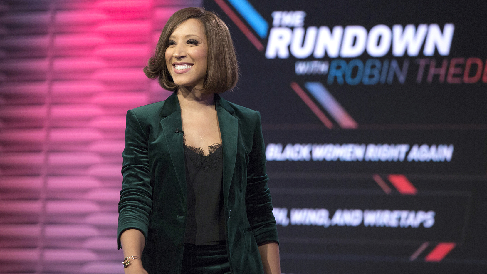 """""""The Rundown with Robin Thede"""" episode 101. (Photo: Eric Liebowitz/BET)"""