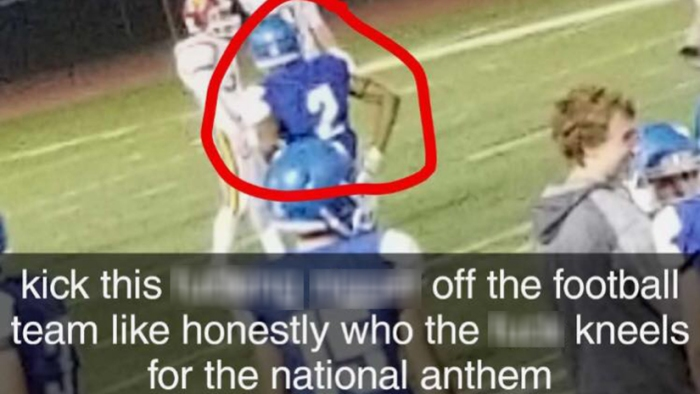 0134c481e Iowa high school football player called N-word for kneeling during anthem