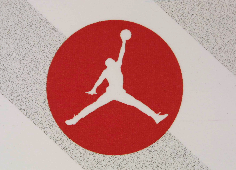 840815b4c80b The Air Jordan logo is displayed at a Jordan promotional event July 31