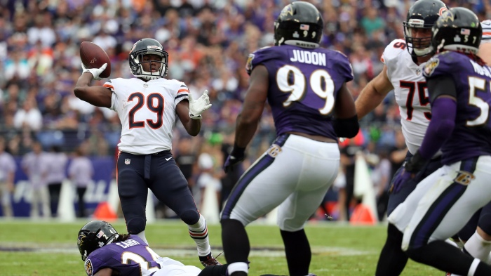 Ravens' two special teams touchdowns not enough in overtime loss to Bears, 27-24