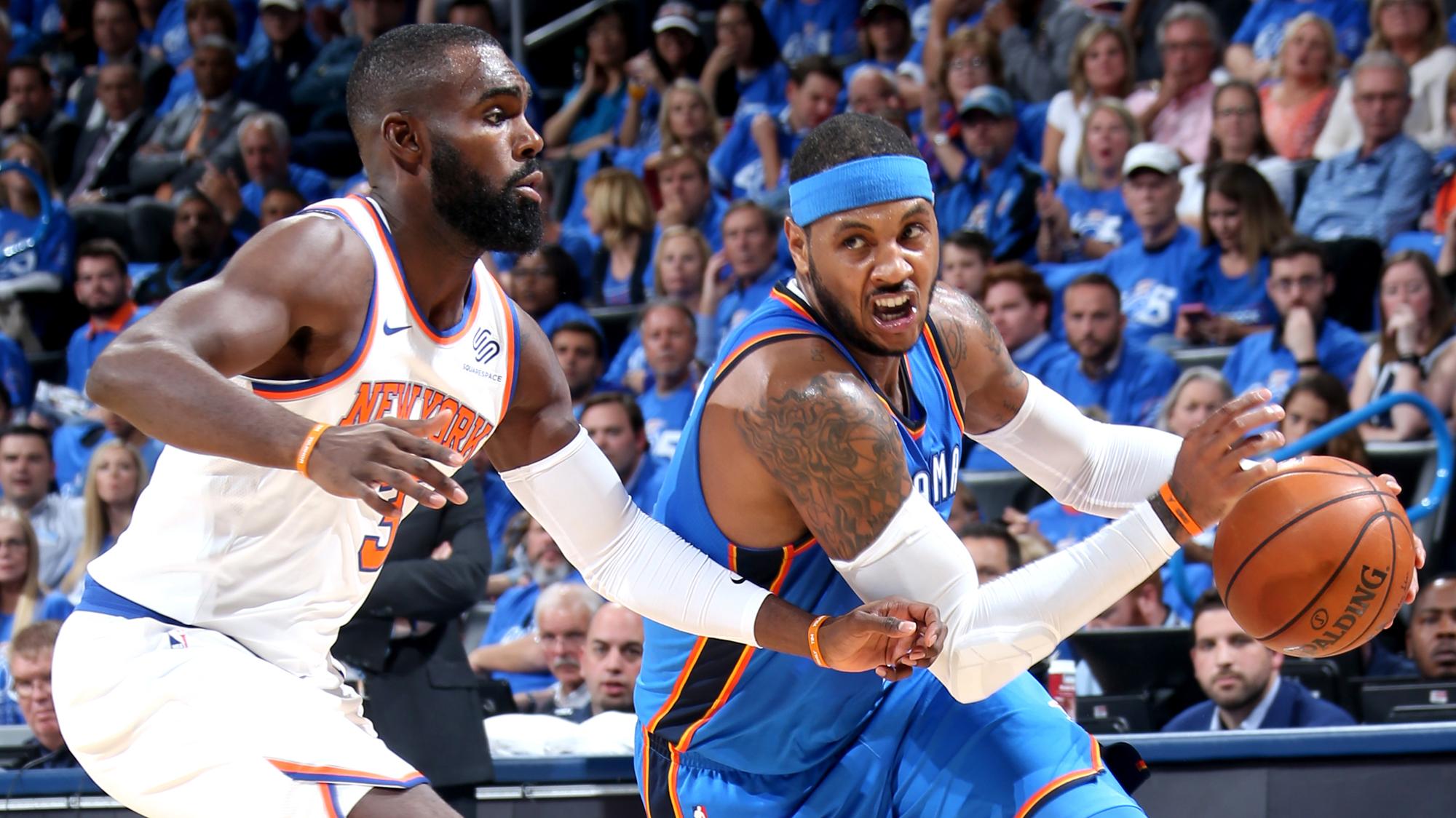 New York Knicks v Oklahoma City Thunder