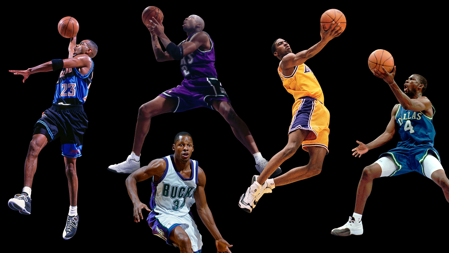 How Michael Jordan S Original Starting Five From Ray Allen To Michael Finley Became Team Jordan S First Stars