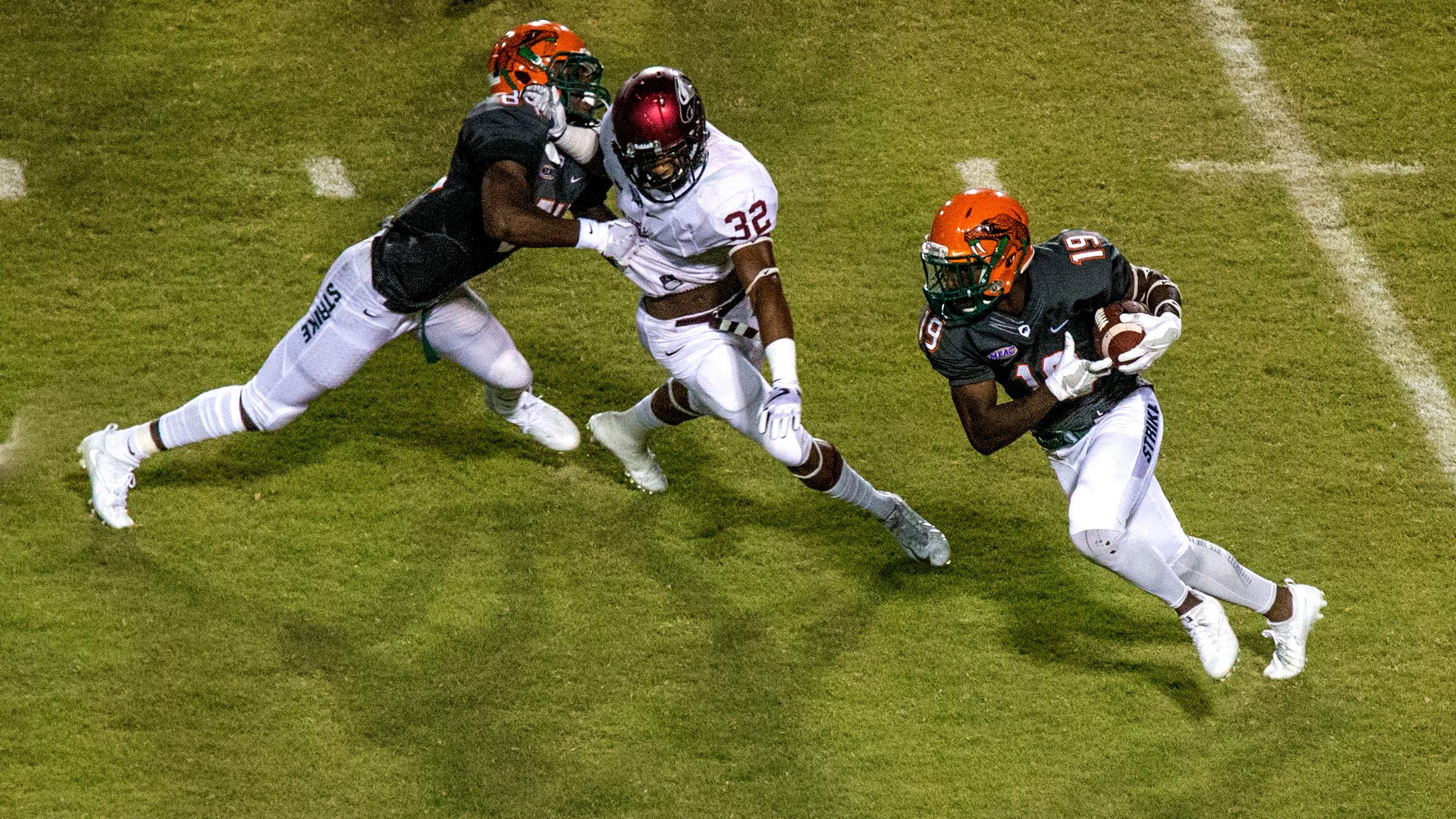 Florida A&M plays North Carolina Central in NCAA football