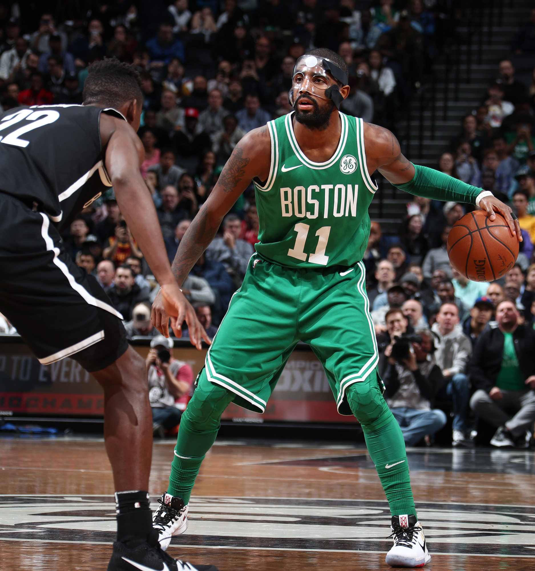 0a5b5699f Black mask Kyrie Irving vs. clear mask Kyrie Irving — who wins