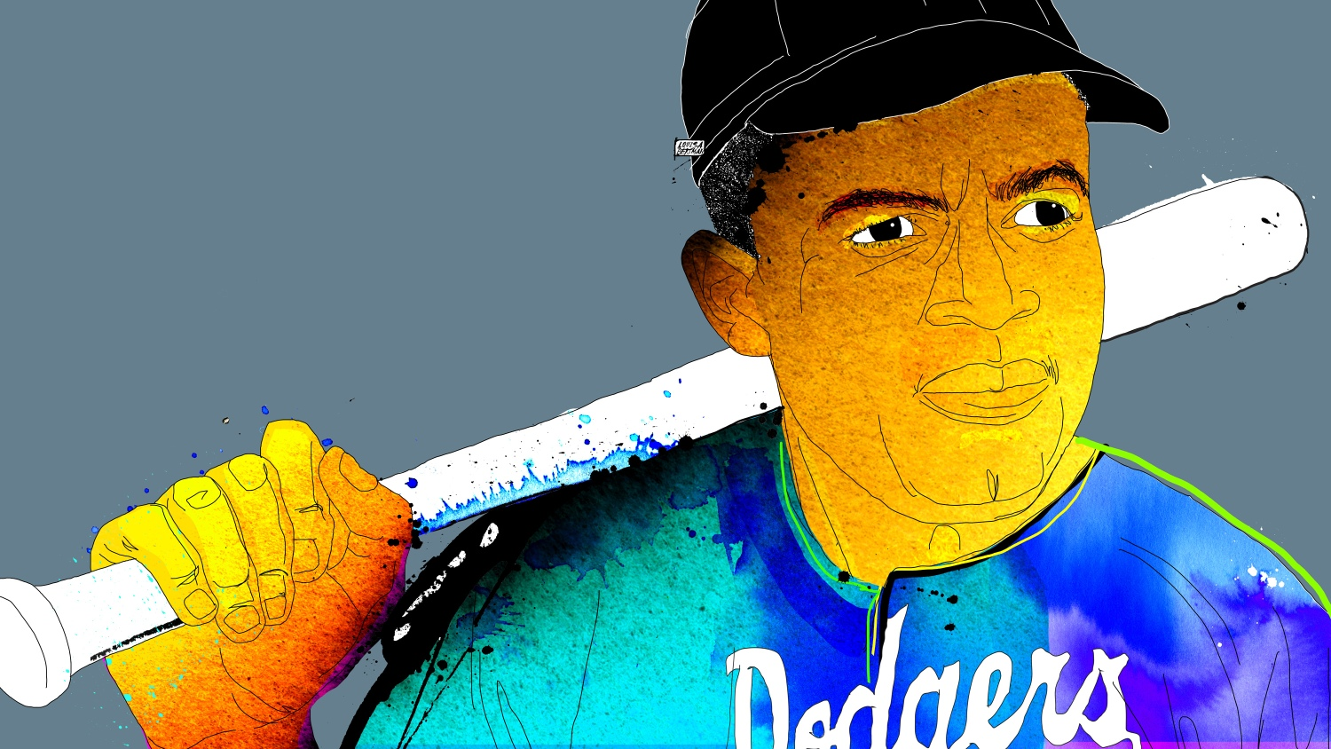 76d328bf We can thank Jackie Robinson for coloring in the World Series and then the  world