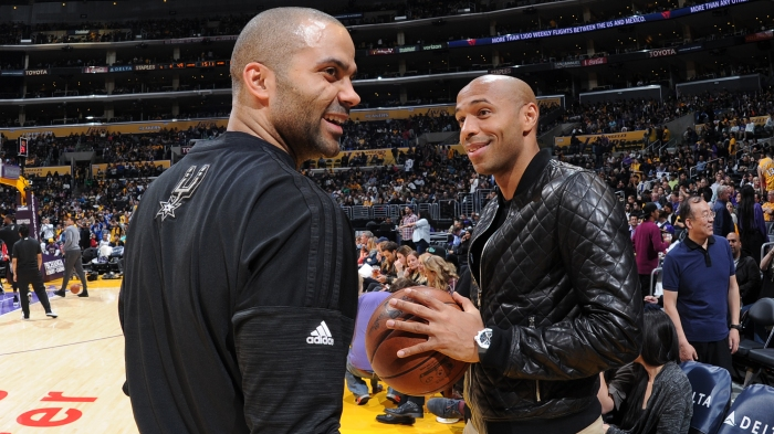 afc8f2a32a7 Spurs  Tony Parker returns to lineup with support from friend Thierry Henry