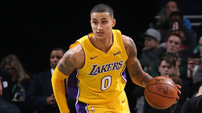 buy online bd0a5 b42ea Kyle Kuzma is more than the Lakers' other rookie — he's got game