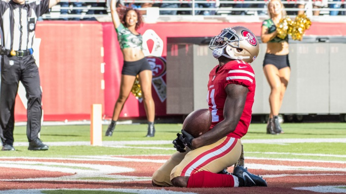 NFL: NOV 12 Giants at 49ers