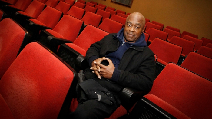 Charles Burnett during an interview in A Coruna