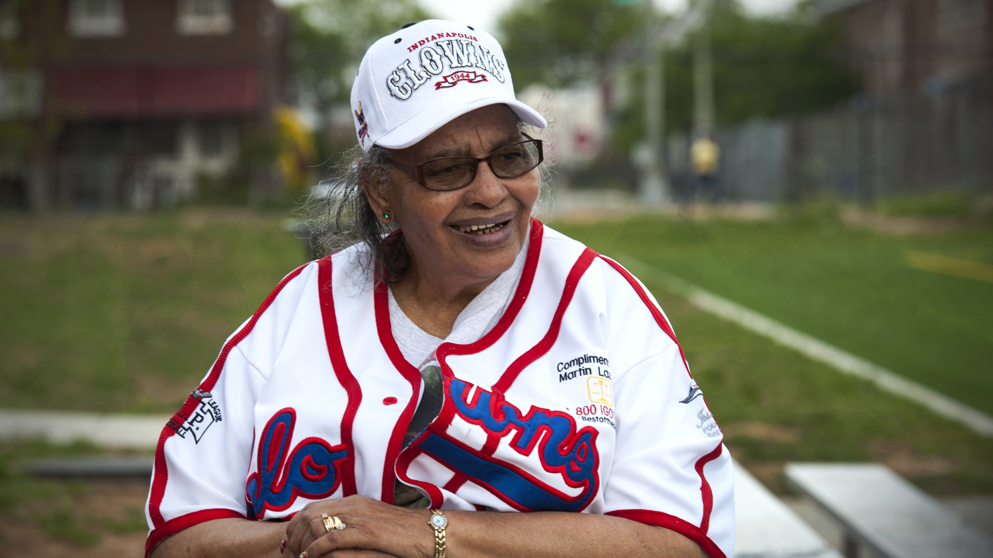 "Mamie ""Peanut"" Johnson, the first woman player in the Negro baseball league, who pitched for the Indianapolis Clowns, has a new ball field named for her."
