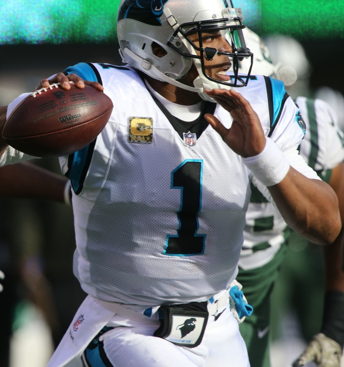 Quarterback Cam Newton of the Carolina Panthers in action against the New  York Jets during their game at MetLife Stadium on Nov. 26 in East  Rutherford 5d7d49a8f