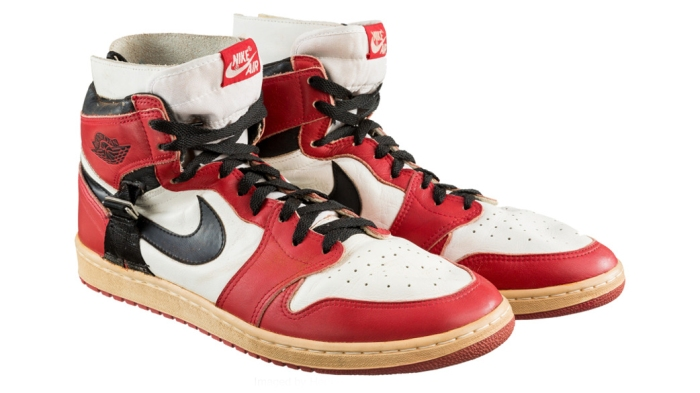 e5a4752f625 These are the most expensive game-worn basketball shoes ever auctioned