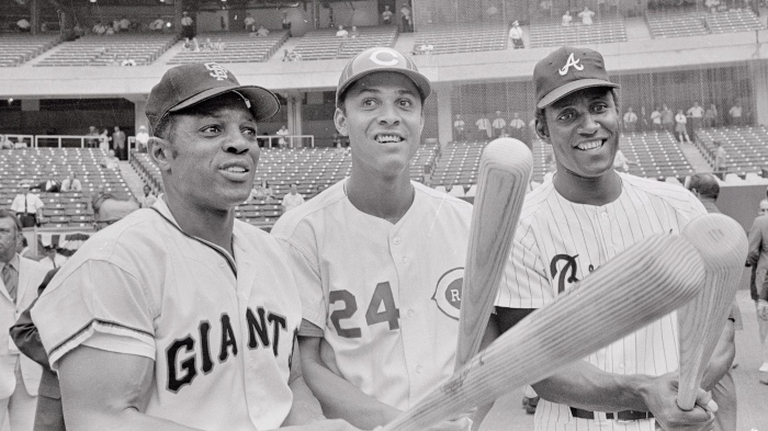 1970 all Star Players Holding Bats